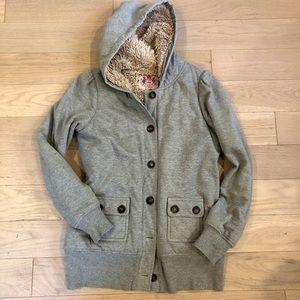 Women's Juicy couture Grey hoodie w/ teddy fur